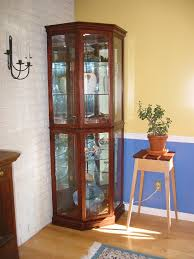 Glass Curio Cabinet With Lights Storage Cabinets Ideas Corner Curio Cabinet Lighted A Modern