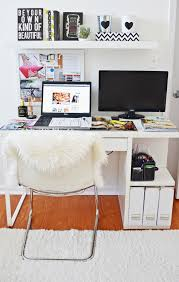 Small Floating Desk by White Minimalist Home Office Design With Floating Desk Imac And