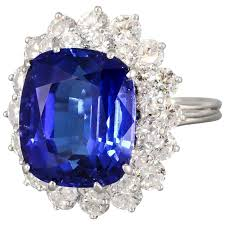 tanzanite blue rings images Tiffany and co large tanzanite diamond platinum ring for sale at jpg