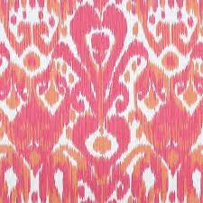 Scalamandre Upholstery Fabric Ikat Print Scalamandre Greystone Ikat Fabric In Coral Strie