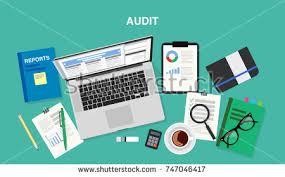 Desk Audit Man Table Fills Form Health Insurance Stock Vector 471696947