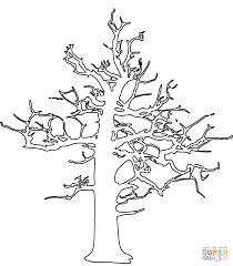 dead tree coloring page free printable coloring pages