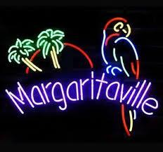 palm tree neon light margaritaville paradise parrot palm tree neon sign 20 x16 ebay