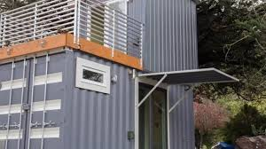 Shipping Container Home by Two Story Shipping Container Tiny House Youtube