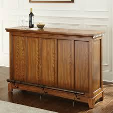steve silver martinez bar with foot rail cherry bar height