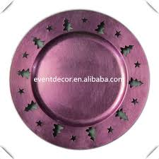 wedding plates cheap wholesale cheap purple plastic wedding charger plates with