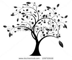 floral tree stock vector 109750658