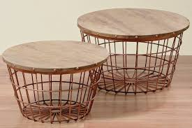 Wire Side Table Wire Basket Side Table Wayfair
