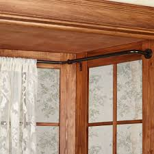 accessories curtain rods wrap around for stylish soho elbow