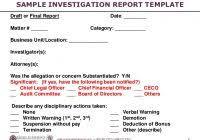 investigation report template disciplinary hearing investigation report template disciplinary hearing professional
