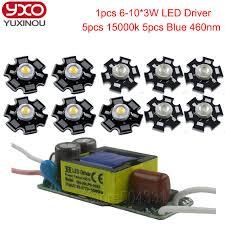 3 watt led aquarium lights 5pcs 3w cold white led 10000k 20000k 5pcs 3w royal blue 460nm 1pcs 6