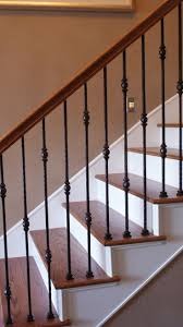Refinish Banister Amazing Wrought Iron And Wood Railings 74 With Additional Home