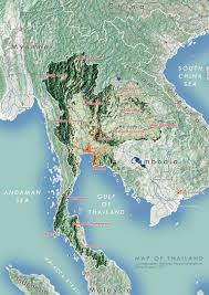 Map Of Thailand Map Of Thailand Terrain Analysis Using Qgis U2013 Phannisa N