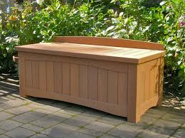 outdoor wood storage bench waterproof affordable for wooden ideas