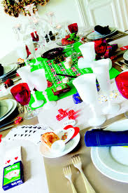 how to create festive table settings with items you already own