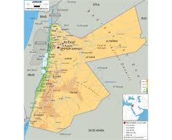 Physical Map Of Southwest Asia by Maps Of Jordan Detailed Map Of Jordan In English Tourist Map