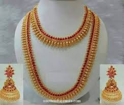 indian wedding necklace sets images South indian wedding jewellery set south india jewels jpg