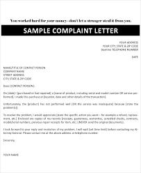 16 complaint letters free sample example format free