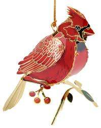3d cardinal ornament traditional ornaments by chemart