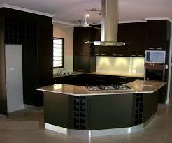 circular kitchen island modern kitchen idea in black and semi circular for cozy cooking