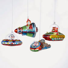 modern 1950s retro style glass tree ornaments modern