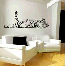 animal wild zoo lying tail tiger wall decal sticker living room animal wild zoo lying tail tiger wall decal sticker living room stickers black color vinyl removable nursery decor amazon