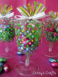 wine glass party favor s crafts party favors