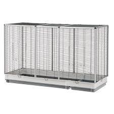 gabbie per canarini gabbia per uccelli di grandi dimensioni espace 160 nera senza