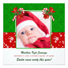 new baby announcement christmas cards invitations greeting