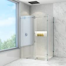 1500 Shower Door Vigo Winslow 36 X 48 In Frameless Sliding Shower Enclosure With