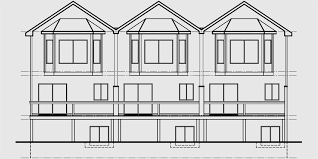triplex house plans townhouse plans 2 bedrm triplex plans t 415
