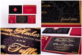 Red And Black Wedding Invitations Velvet Wedding Invitations Gourmet Invitations