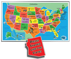 United States Map Puzzle Games by Amazon Com Kids U0027 Puzzle Of The Usa 55 Piece Toys U0026 Games