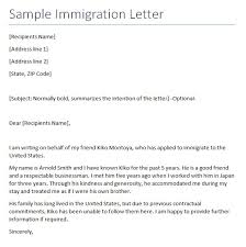 letter of immigration 5 immigration reference letter templates