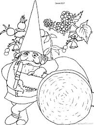 110 garden gnomes coloring adults art pages images