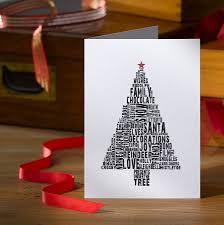 christmas card tree christmas lights decoration