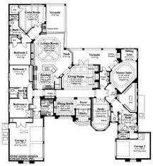 One Story Luxury Home Floor Plans One Story Floor Plan House Plans Pinterest Teenager Rooms