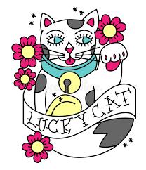 tattoo cat neko maneki neko tattoo stock vector illustration of doll 55778813
