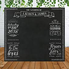 wedding backdrop personalized personalized chalkboard wedding backdrop for photo booth z create