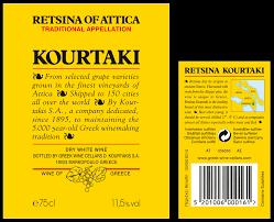Greek Wine Cellars - kourtaki retsina of attica pgi newwinesofgreece com