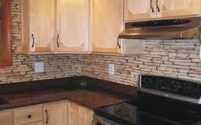 Stacked Stone Kitchen Backsplash by Gallery Mazeras Natural Stones