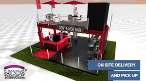 awesome shipping container bar concept this design uses a 20