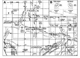 A Map Of Illinois by The Cottage Grove Fault System Illinois Basin Late Paleozoic
