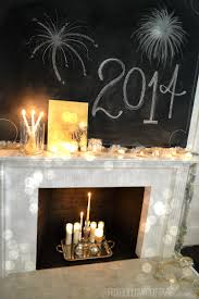 New Years Eve Decorating Tips by Mixed Metals New Year U0027s Eve Mantel Decorating Ideas Fox Hollow