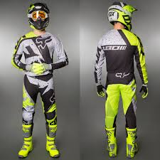 motocross gear combos fox motocross u0026 enduro mx combo fox 180 nirv yellow maciag offroad