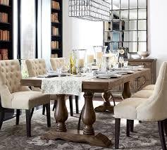 lorraine extending dining table hewn oak pottery barn