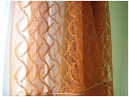 Burnt Orange Sheer Curtains Curtain Curtain Orange Sheertains Walmart Burnt Colored At