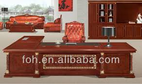 High End Hand Carved Executive Desk Luxury Office Furniture Foht - Luxury office furniture