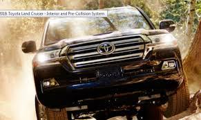 Toyota Land Cruiser Interior 2018 Toyota Land Cruiser Interior And Pre Collision System