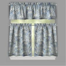 Kitchen Curtains Valances And Swags by Curtains Waverly Window Valances Curtain Swag Yellow And Grey
